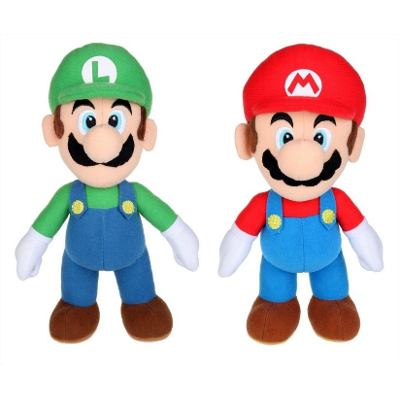 Kit Super Mario Bros de Pelucia mais Luigi 2 Pe�as 25cm
